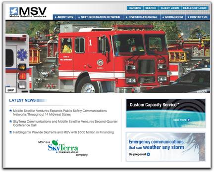 Mobile Satellite Ventures (Emergency) homepage