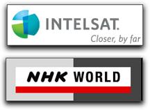 Intelsat + NHK logos