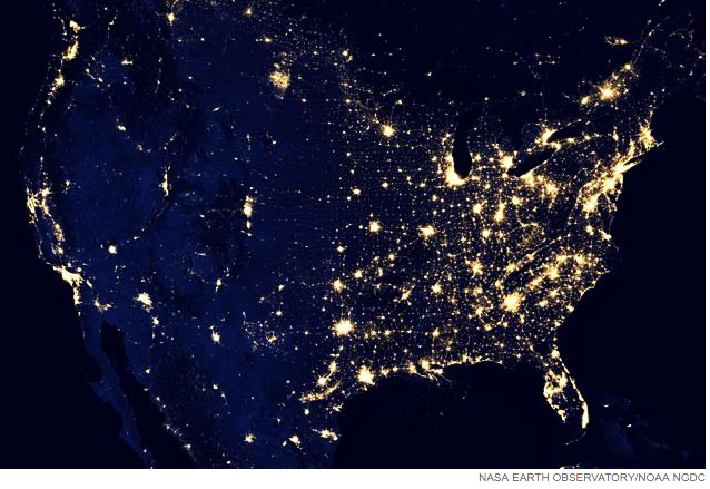 Satnews Publishers Daily Satellite News - Us at night map