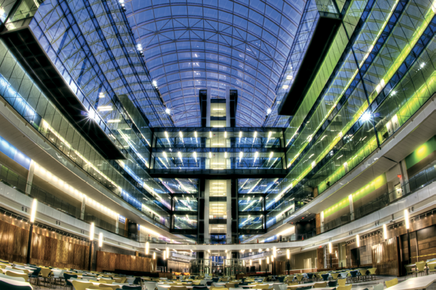 Interior View Of The National Geospatial Intelligence Agency S Headquarters Photo Courtesy Of The U S Army Corps Of Engineers North Atlantic Division Marc