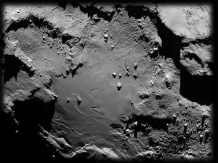 Boulder field on asteroid