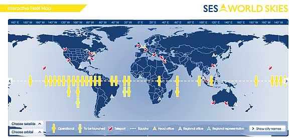 Satnews Publishers Daily Satellite News - Maps of ses in us